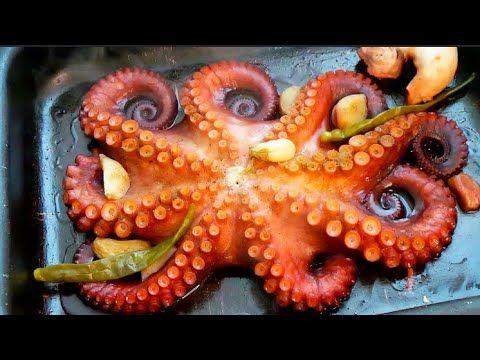 لازم تجربوا طريقة الاخطبوط الشهي وتحضير في دقيقتين فقط Youtube Food Octopus