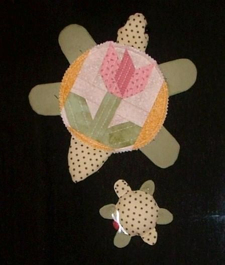 Quilted Turtle with Baby
