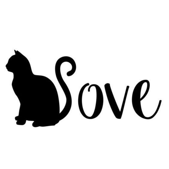 CAT Sticker Kitten Vinyl Decal Silhouette Graphic Wall Art Car Decor Love Pet S1