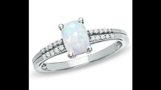 Opal engagement ring from Zales Candy Colored Diamonds event Agape