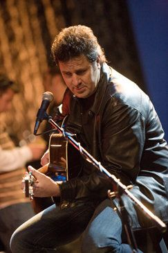 Vince Gill on the set of the video.