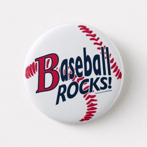 Baseball Rocks Button Zazzle Com In 2021 Rock Painting Tutorial Rock Painting Patterns Rock Crafts