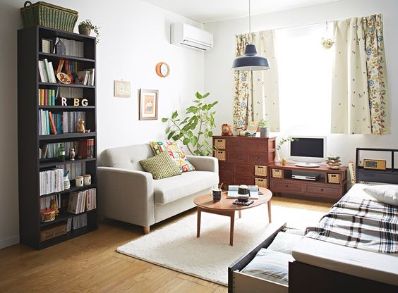 One room japanese apartment interior design decor for Small one room apartment ideas