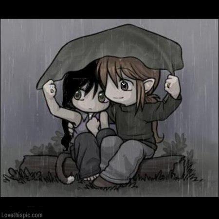 Cartoon Images Of Love Couple In Rain Cartoonview Co