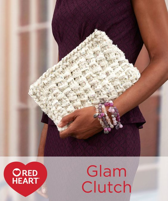 Glam Clutch Free Knitting Pattern in Red Heart Yarns ...