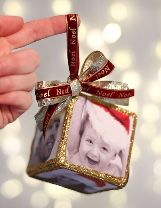 Daily Mom » DIY Photo Cube Ornament