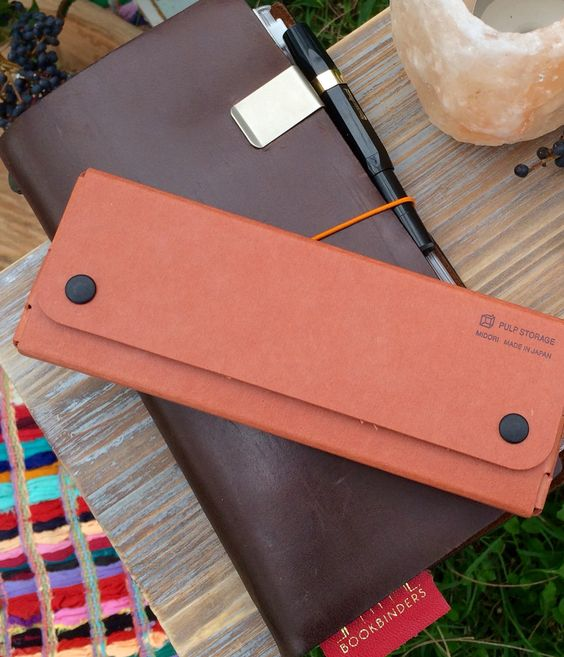 Midori Travelers Notebook, Pulp Storage Pen Case and Kaweco Classic Fountain Pen www.bookbindersonline.com.au