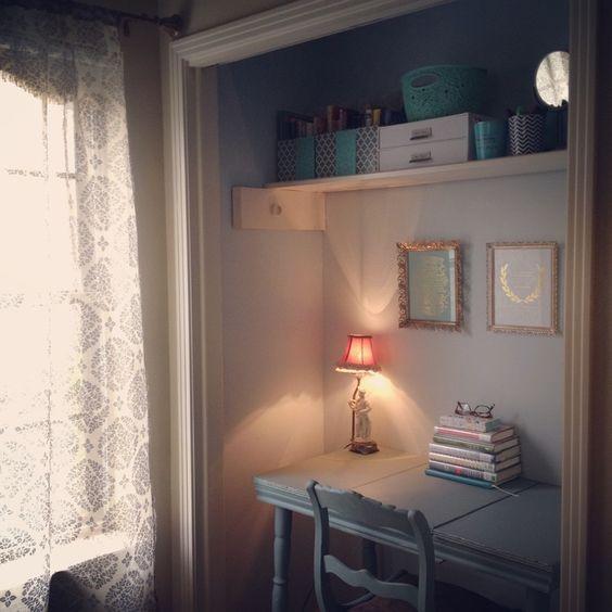 "My closet office, or ""cloffice."" :-)"