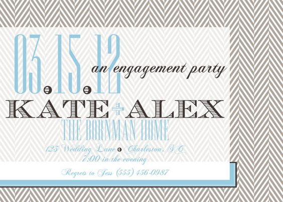 Herringbone and Chocolate Engagement Party or by PARTYBOXDESIGN, $33.50
