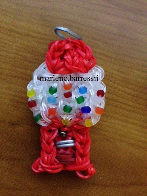 Mini Gumball Machine Charm - rainbow loom