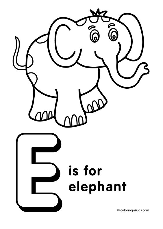e alphabet coloring pages - photo #19