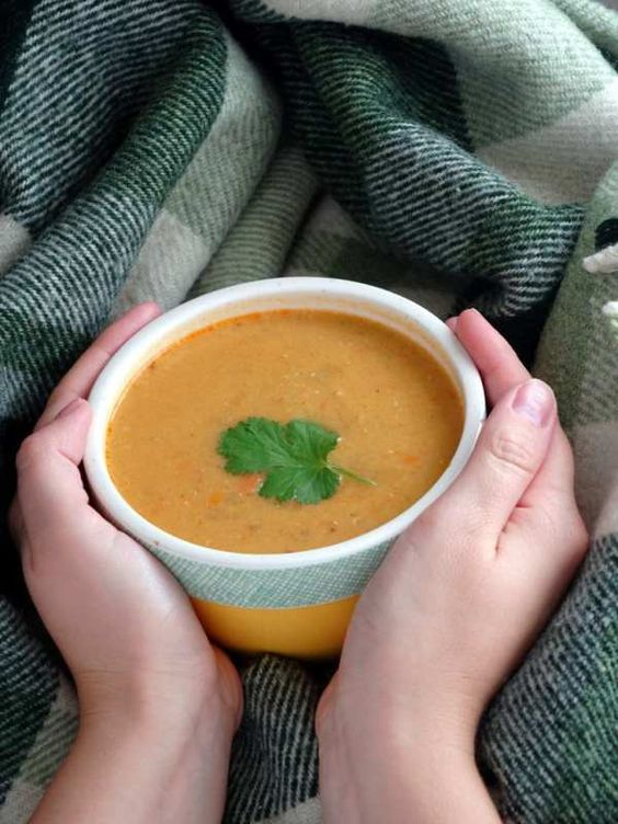Spicy Red Lentil Soup will make autumn blues go away! Try it!