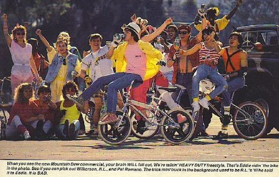80's Mountain Dew commercial featuring pro BMX freestylers Eddie Fiola & ron Wilkerson!