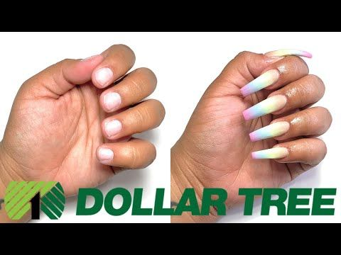 Dollar Tree Acrylic Nails At Home All Products Only 1 Not Clickbait Youtube In 2020 Nails At Home Acrylic Nails At Home Diy Acrylic Nails