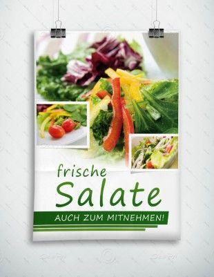 Frische Salate auch zum Mitnehmen - Plakat - P-FP-0068 | Gastronomie | Plakate | Werbeprodukte | Despri
