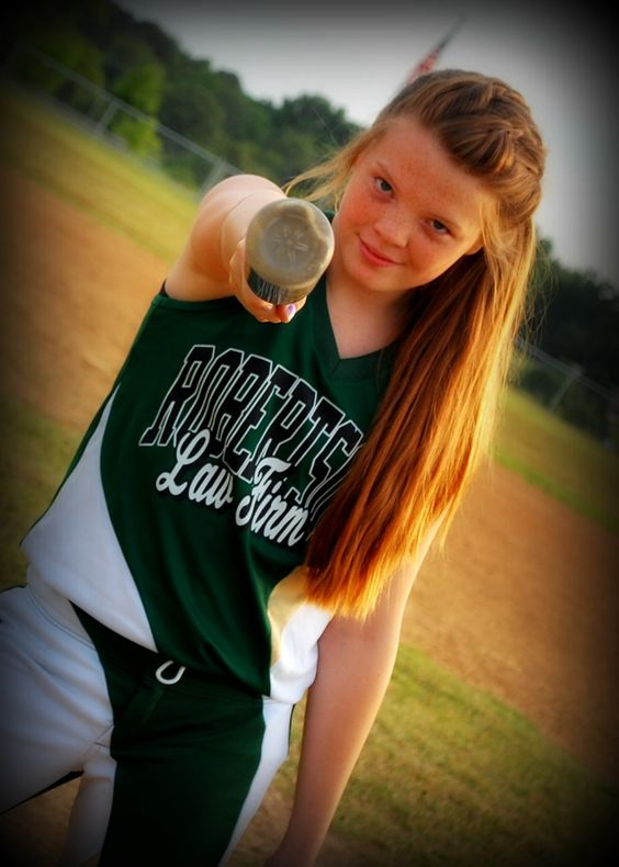 Taking a pic of Emma like this next time we hit the field!