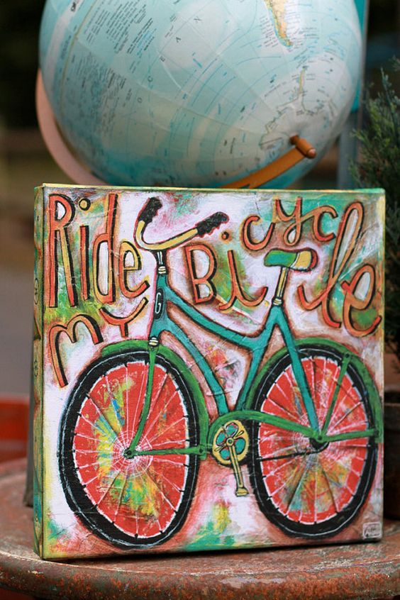 Hey, I found this really awesome Etsy listing at http://www.etsy.com/listing/152385602/bicycle-art-canvas