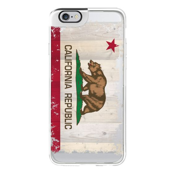 iPhone 6 Plus/6/5/5s/5c Metaluxe Case - California Republic flag on... ($50) ❤ liked on Polyvore featuring accessories, tech accessories, iphone case, apple iphone cases, iphone cover case, wood iphone case and wooden iphone case
