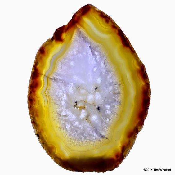 Yellow Agate Geode Slice - ©2014 Tim Whetsel - TDWJewelry