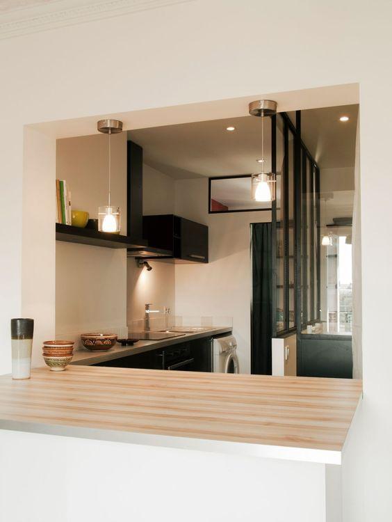 Appartement Paris  visitez 5 réalisations d\u0027architectes Cuisine