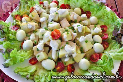 Salada de Batata Doce com Molho de Gorgonzola, é fácil, nutritiva e deliciosa!