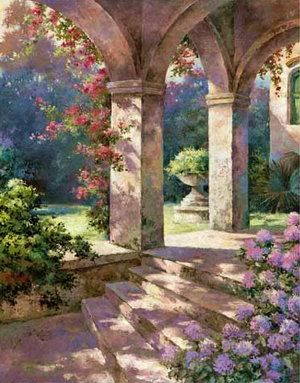 Pictures landscape oil paintings and chang 39 e 3 on pinterest for Cypress gardens mural