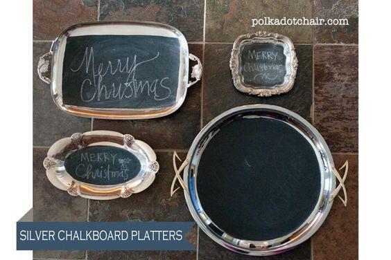 Silver Platter Chalkboards- a few tips