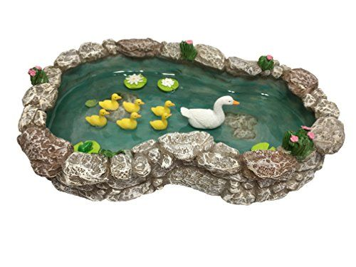 Fairy Garden Water Duck Pond Landscape Accessory Dollhouse Outdoor Decor Supply