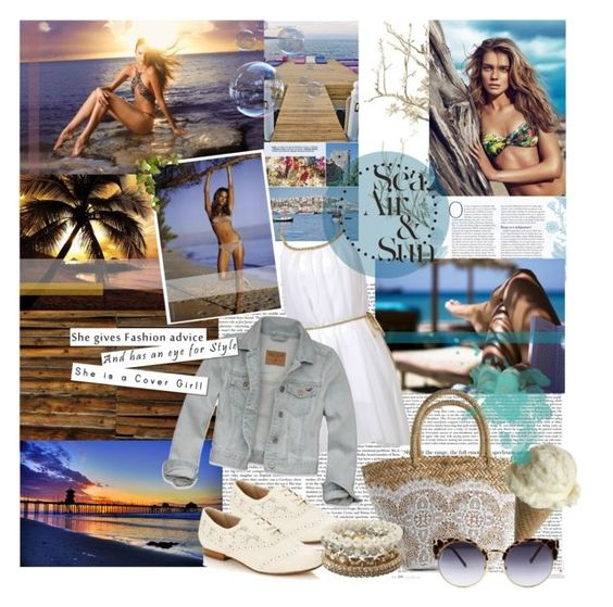 """""""Sea, Air & Sun"""" by glamye ❤ liked on Polyvore featuring Victoria's Secret, Hollister Co., Flora Bella, Rocha.John Rocha and Cotton Candy"""