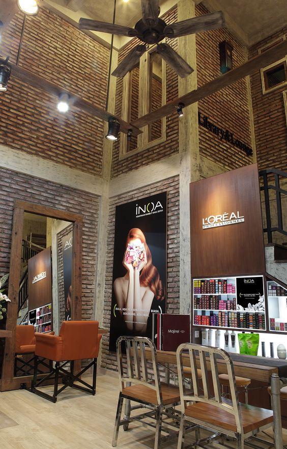Rustic meets industrial in this salon in Central Java. @ Erlangga Barat vi /10 Semarang , Central Java +6224 8454039