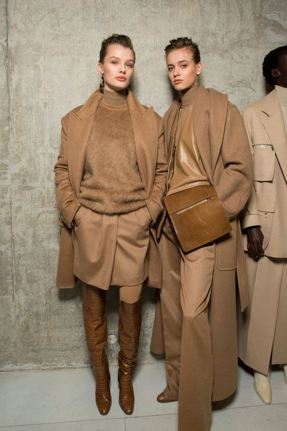 Backstage at Max Mara FW19 | Available on Moda Operandi