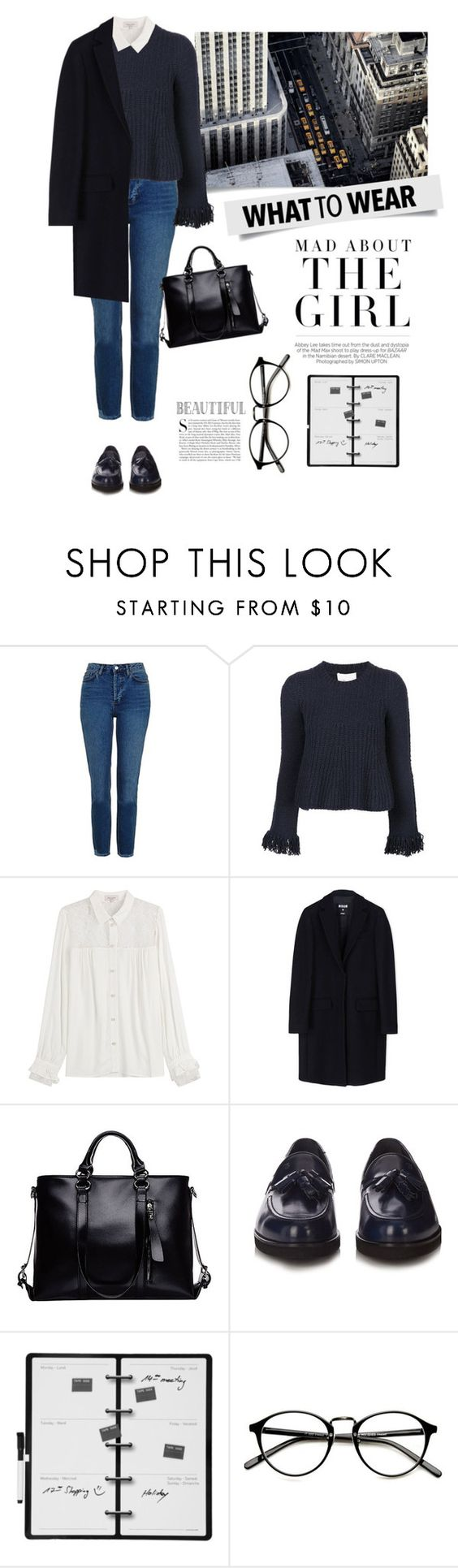 """#126"" by kgarden ❤ liked on Polyvore featuring Made of Me, Topshop, 3.1 Phillip Lim, Paul & Joe, MSGM, Tod's, Kershaw and Kikkerland"