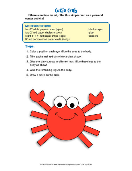 Cutie Crab Craft
