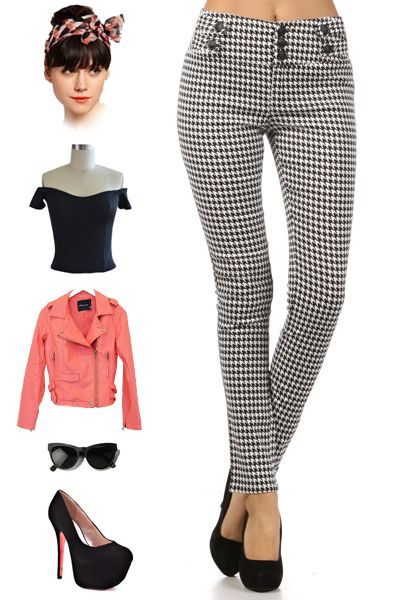 brand new in store! find them here: http://www.ebay.com/itm/PINUP-HIGH-WAISTED-Black-White-HOUNDSTOOTH-GWEN-Skinny-Pants-w-BUTTON-Detail-/121006356374?pt=US_CSA_WC_Pants==item61cff2d364