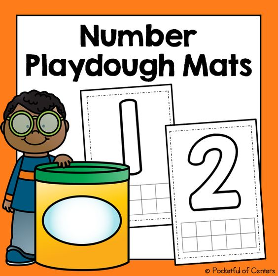 Playdough Mats From 1 10 Freebie Numbers Preschool Preschool Math Numbers Kindergarten