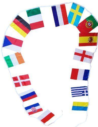 Guirlande des 32 drapeaux Nations - Coupe du Monde Football 2014 - Drapeau Pays-Bas , Italie , Belgique , Suisse , Allemagne , Espagne , Angleterre , Russie , Bosnie , Grèce , Croatie , Portugal , France , Brésil , Argentine , Colombie , Chili , Equateur , Uruguay , Japon , Australie , Iran , Corée du Sud États-Unis , Costa Rica , Honduras , Mexique , Nigeria , Côte d'Ivoire , Cameroun , Ghana , Algérie de A chacun son Pays, http://www.amazon.fr/dp/B00861WYDG/ref=cm_sw_r_pi_dp_WqyLtb0XHFDJF