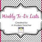 This free item is a place to list all your weekly to-dos. before school, after school, and materials to gather