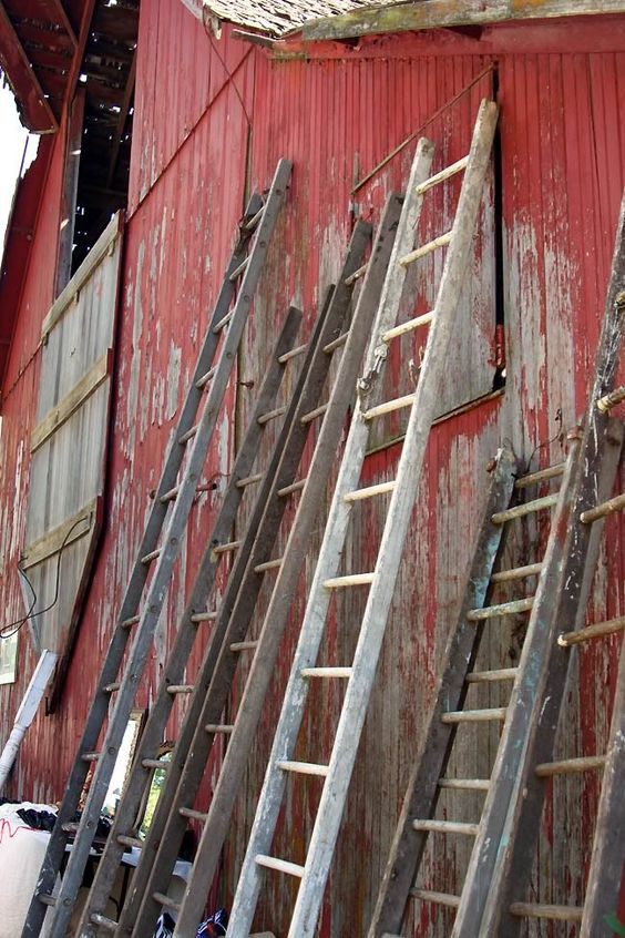 Ladder barns and wooden ladders on pinterest