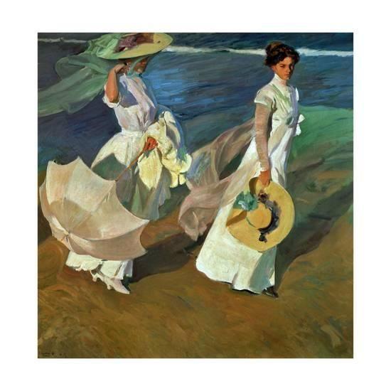 Walk On The Beach 1909 Giclee Print By Joaquín Sorolla Y Bastida At Allposters Com Art Art Prints Painting