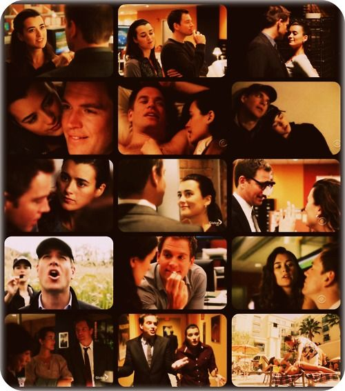 Tony and Ziva (from NCIS). these two are too freaking cute ...