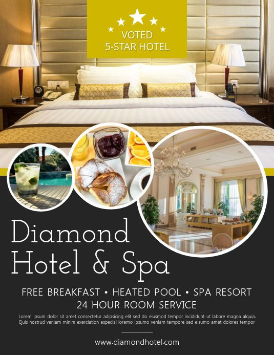 Pin By Postermywall On Corporate Flyer Templates Hotel Ads Hotel Advertisement Hotel Promos