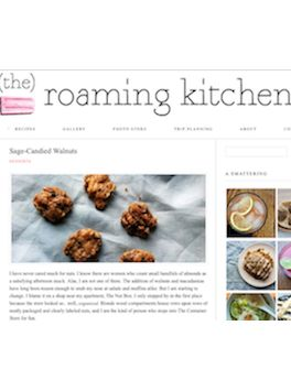 Sage-Candied Walnuts from The Roaming Kitchen blog | Recipes ...