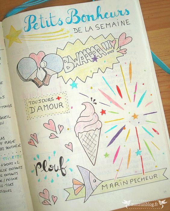 Petits bonheurs de la semaine - Bullet Journal : 1er bilan !