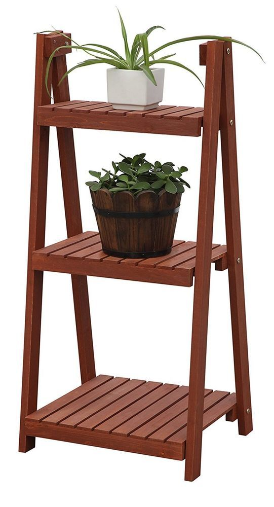 Wood Plant Stand 3 Tier Flower Display Shelf Planter Rack Pot Garden Decor Plant Stand Plant Stand Table Indoor Plant Shelves