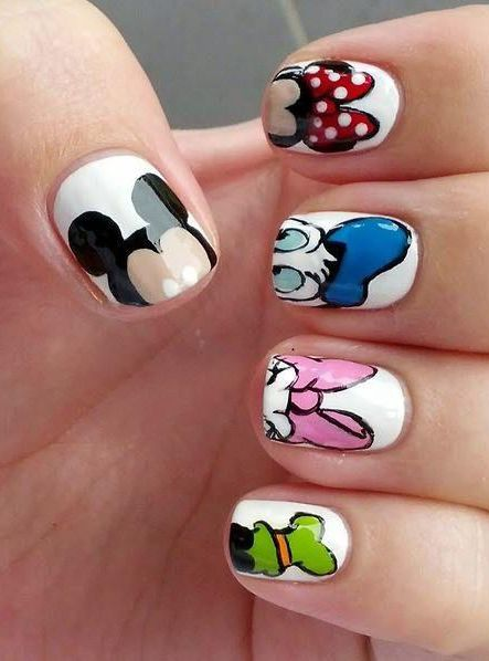 Disneys Mickey Mouse And Friends Nail Art Nail Art Disney