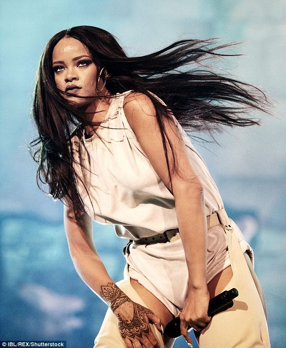 'Global icon': Rihanna, seen onstage in Sweden last month, is in the middle of her Anti World Tour and will perform live on the MTV Music Video Awards