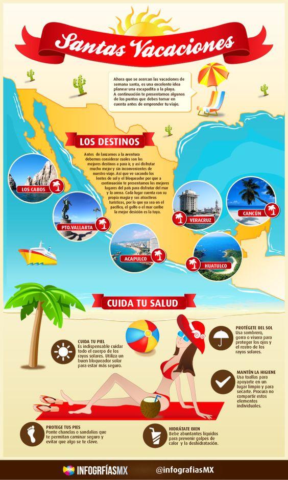 ¿Vas a salir de vacaciones? INFOGRAFIA: Las mejores playas para visitar. #SemanaSanta #Infographic #Infografia @infografiasMX