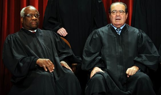 """[Justice Antonin Scalia dropped a bombshell on the Supreme Court today, announcing his decision to resign from the Court """"effective immediately"""" and leave the United States forever...  Scalia lashed out at his fellow-Justices and the nation, saying, """"I don't want to live in a sick, sick country that thinks the way this country apparently thinks.""""   Scalia said that he had considered fleeing to Canada, """"but they not only have gay marriage but also national health care, which is almost as…"""