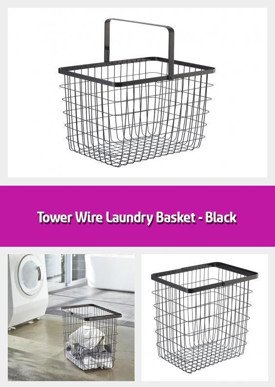 Tower Wire Laundry Basket Black Laundry Basket Material Steel