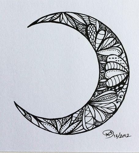 moon tattoo clair de lune tatouage pinterest mandalas id es de tatouages et la lune. Black Bedroom Furniture Sets. Home Design Ideas